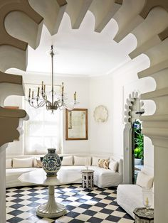 home of fashion mogul Pierre Bergé in Tangier, Morocco designed by Studio KO - floors & doors