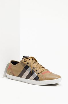 Burberry Check Print Sneaker @Nordstrom