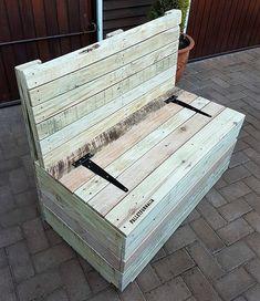 pallet bench cum chest