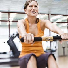 A rowing machine, or ergometer, might be your best choice for a cardio machine workout, depending on your fitness goals. Rowing Workout, Endurance Workout, Workout Fitness, Aerobic Fitness, Fitness Exercises, Physical Fitness, Low Impact Workout, Body Fitness, Fitness Tips