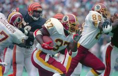 washington redskins 1991 | Redskins running back Gerald Riggs makes a dash for daylight as tight ...