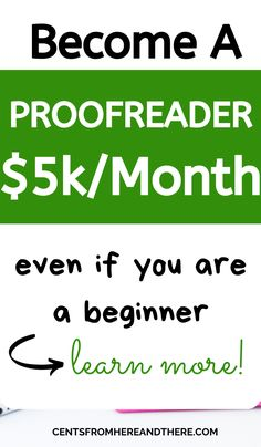 Become a proofreader and start working from home with kids. This is an expert guide from a millionaire proofreader to becoming a proofreader and finding work at home proofreading jobs! Legit Work From Home, Online Work From Home, Work From Home Moms, Make Money From Home, Way To Make Money, Earn Money Online, Online Jobs, Work From Home Opportunities, Proofreader