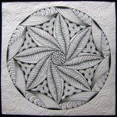 Quiet Corner Art Quilt Group: Quilted Zen Mandala by Pat Ferguson