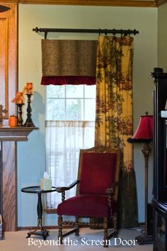 2 New Window Treatments Created from Existing Curtains | Beyond the Screen Door