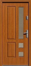 Drzwi zewnętrzne drewniane wzór 590,1 w kolorze złoty dąb