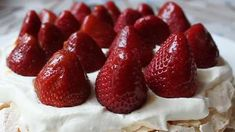 Fresh Strawberry Pavlova Allrecipes.com Love the commentary on this vid and I'm trying this tonight ;-)
