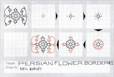 Persian Flower Border 1 - tangle pattern