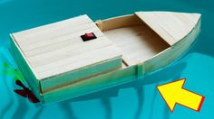 How to Make a Motor BOAT with Popsicle Sticks and Motors - DIY Crafts - ... Popsicle Stick Boat, Popsicle Stick Crafts, Craft Stick Crafts, Make A Boat, Build Your Own Boat, Diy Boat, Ice Cream Stick Craft, Kids Motor, Lego Boat