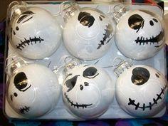 Faces of Jack Skellington Ornaments