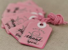 Baby Girl Shower Favor Tags  Baby Girl Favor Tags  by BlissInArt, $7.00