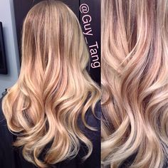 Curls created with 1.25 inch @Jeani Thompson  wand to create the effortless curls! Spray @Kenra Professional Professional silkening mist and 9 hairspray for sheer hold and control with lightweight shine! #balayage #ombre #blonde #hairstyle