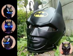 Batman helmet custom for mortorcycle by GARAGEHELMETCUSTOM on Etsy
