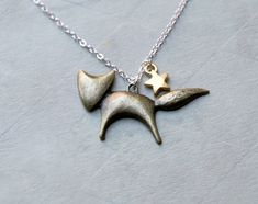 Items similar to My shooting star- The little prince (le petit prince) coin and diamond star- French inspired dainty charm necklace on Etsy Fox Jewelry, Jewelry Accessories, Etsy Jewelry, Women Accessories, Jewelry Design, Little Prince Fox, Mein Style, Arrow Necklace, Star Necklace