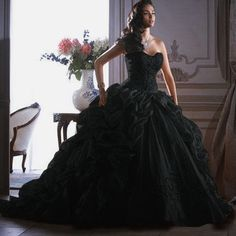 Black wedding gown. Absolutely exquisite!!! I love it!