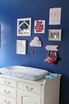 Gallery Wall in Kids Room via Shoes Off Please -like the arrow headband holder