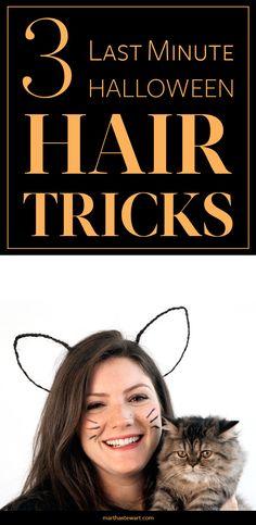 3 Last-Minute Halloween Hair Tricks | Martha Stewart Living