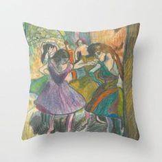 Ballerinas Throw Pillow Ballerinas, Throw Pillows, Art, Art Background, Toss Pillows, Ballet Flats, Cushions, Ballerina Pumps, Kunst