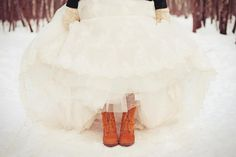 I always thought that I would have a winter wedding but boots is such a good idea.