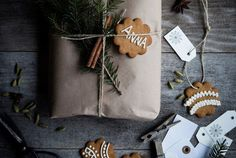 The only thing better than a present is a present adorned with a sweetly decorated (homemade or store-bought) cookie. Made By Mary of Sweden has instructions, an icing recipe, and a bonus spicy hot chocolate recipe.