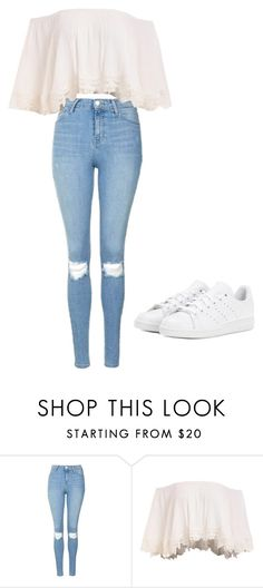 """#live"" by lilavie ❤ liked on Polyvore featuring Topshop and adidas"