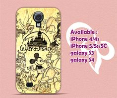 Disney Collage Art Design for iPhone 4/4s/5/5s/5c, Samsung Galaxy S3/S4 Case sur Etsy, 11,06 €