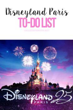 Disneyland Paris to-do list