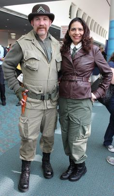 Pin for Later: The Absolute Best Cosplays From Comic-Con 2015 Dum Dum Dugan and Agent Carter Carters Halloween Costumes, Dum Dum Dugan, Peggy Carter, San Diego Comic Con, Star Wars Characters, Geek Girls, Girl Crushes, Cosplay Costumes, Pop Culture