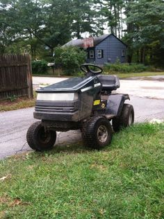 My custom poulan pro mud mower (craftsman hood)