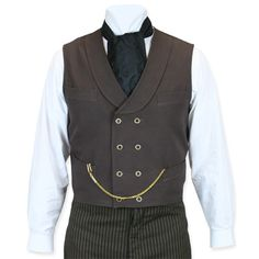Canvas Double Breasted Vest