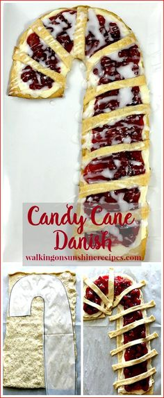 Candy Cane Cream Cheese Danish from Walking on Sunshine Recipes. Perfect for Christmas morning!