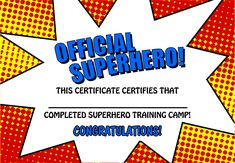 Free+Printable+Superhero+Templates plus boom pow templates too Superhero party stationery for Amanda