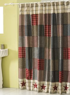 Stars Of America Primitive Shower Curtain