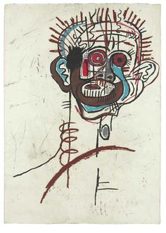 Jean-Michel Basquiat Untitled, oilstick on paper x cm) Jean Michel Basquiat Art, Jm Basquiat, Basquiat Paintings, Andy Warhol, Radiant Child, Graffiti, Art Brut, Art Moderne, Outsider Art