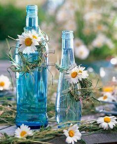 bottles.quenalbertini: Vintage light blue bottles