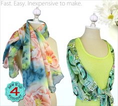 Chiffon Scarves - Serged or Sequined