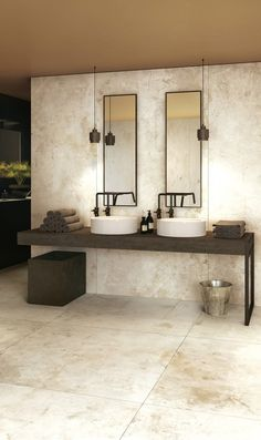 This Bathroom Decor Idea makes it really simple to offer your bathroom a fresh f. This Bathroom De Bathroom Images, Modern Bathroom, Small Bathroom, Master Bathroom, Bathroom Ideas, Bad Inspiration, Bathroom Inspiration, Large Format Tile, Condo Decorating