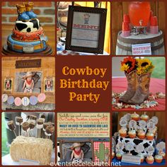 Cowboy Themed Birthday Party - events to CELEBRATE!