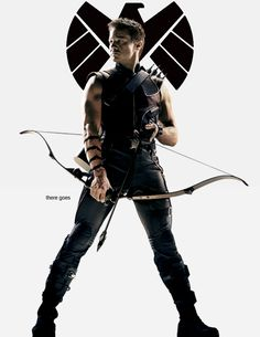 Clint Barton / Hawkeye // I love this look. not gonna lie, I don't like his new outfit for Age of Ultron. why can't I see his arms anymore???