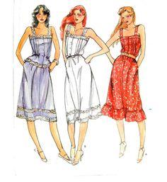 Vintage Butterick, Women's Sewing Pattern, Sun Dress, Size 12, Top and Skirt, Boho Dress, Sewing Supplies