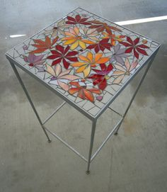 mosaic table   floral motif in by ParadiseMosaics, $195.00