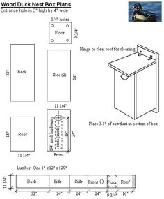 Wood Duck Nest Box Plans - Hubby and I have already built three.