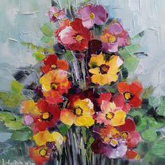 """Le vedem peste tot zilele acestea; sunt în piețe, în florării, pe la balcoane și în spațiile publice. Par foarte firave, ca niște foițe subțiri, colorate și am putea să ne imaginăm ce le-ar face un vânt mai obrăznicuț dar nu, surprinzător, sunt tot acolo și după o noapte mai friguroasă sau după o ploaie zbuciumată, așa cum se întâmplă primăvara, după rafale zdravene și scuturări la limită. Când iese soarele îsi usucă """"aripioarele"""" și privesc din nou, curajoase, spre cer. Painting, Art, Art Background, Painting Art, Kunst, Paintings, Performing Arts, Painted Canvas, Drawings"""