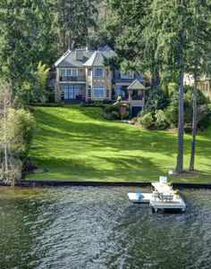 Seattle dream home view 3, the dock, the landscape, the pitched roofs and gables, omg!
