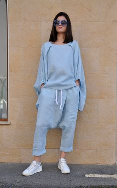 Oversized Jumpers, Wide Pants, White Jumpsuit, Summer Outfits Women, Harem Pants, Tunic, Plus Size, Clothes For Women, Casual