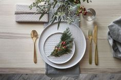 Serve your holiday meals in style. IKEA Winter plates are dishwasher safe, and include knitted and fishbone patterns for a modern Icelandic touch. Interior Ikea, Ideas 2017, Christmas Interiors, Christmas Table Settings, Diy Décoration, Affordable Furniture, Deco Table, Diy Weihnachten, Decoration Table