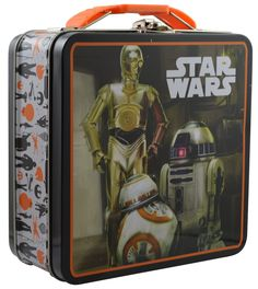 Amazon.com: Disney Star Wars The Force Awakens - Metal Tin Lunch box (Orange): Kitchen & Dining