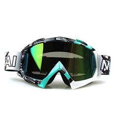 Lorsoul Snow Skiing Snowboarding GogglesUnisex Motocross Snowmobile Snowboard Ski Goggles Dust UV Dustproof Windproof Motorcycle Eyewear Protective Glasses GreenWhite29 Rainbow *** Click on the image for additional details. (This is an affiliate link and I receive a commission for the sales) #AdultSki Helmet