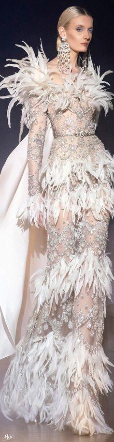 Spring 2021 Haute Couture Elie Saab Couture Fashion, Fashion Show, Elite Fashion, Event Dresses, Wedding Dresses, Feather Fashion, Elie Saab Spring, Elie Saab Couture, Feather Dress