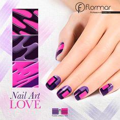 Inventa nuevos diseños para tus uñas, seguro logras cosas geniales.  ¿Te atreves a hacer algo como esto?