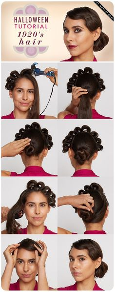how to do 1920s flapper hair, finger wave included //